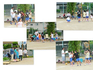 キックベースボールの練習 15:00~\