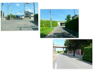 神宮橋信号から森稲荷神社区間 道路工事がはじまります。\