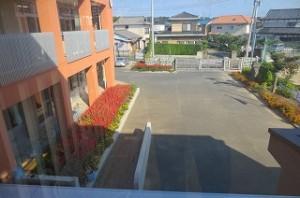 校舎2階から東を撮りました。\\