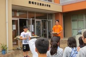 今年も,6回完走した6年生Yさんが表彰されました。\\