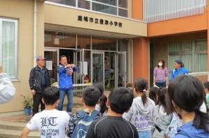 最後に,鹿嶋市役所が交流している韓国の方が参加してくださったので,ご紹介をしています。子どもたちのがんばりを優しい眼差しで見てくださいました。ありがとうございました。\