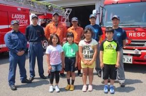 最後に,消防署の方と記念写真をパチリ。お世話になりました。ありがとうございました。\\