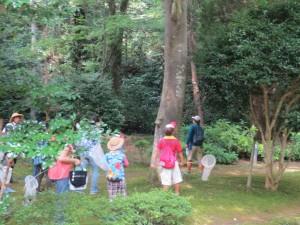 この写真は,7月24日(金)PTA主催「アサザ基金さんと『神宮・谷津田』の散策!自然に親しもう!!」を行いました。写真は出発地点の御手洗です。\