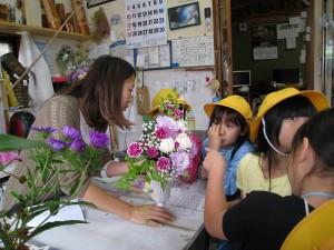 山口生花店では、たくさんのきれいなお花がありました